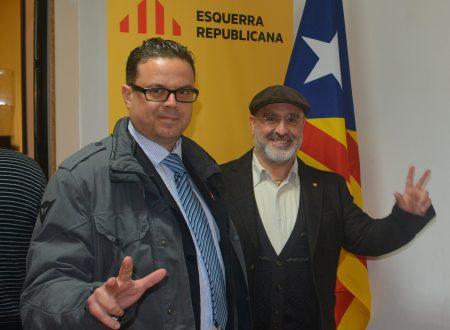 """BARCELLONA (Catalunya) 12 DICEMBRE 2015: Incontro della Segreteria Nazionale del FNS """"Sicilia Indipendente"""" con Esquerra Republicana de Catalunya"""