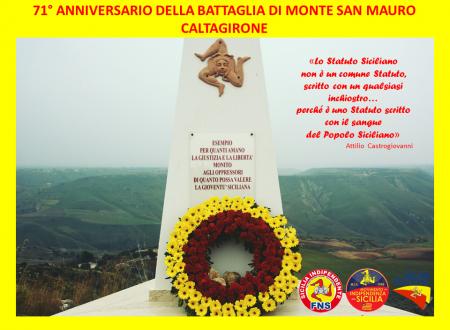 71° anniversario della Battaglia di Monte San Mauro a Caltagirone (29 dicembre 1945 – 29 dicembre 2016)