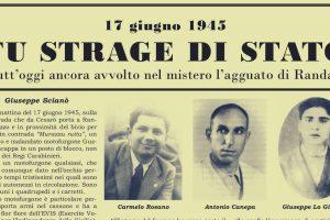 Siciliani, domenica 18 giugno 2017, tutti a Murazzu Ruttu (Randazzo) per il 72° anniversario dell'Eccidio!